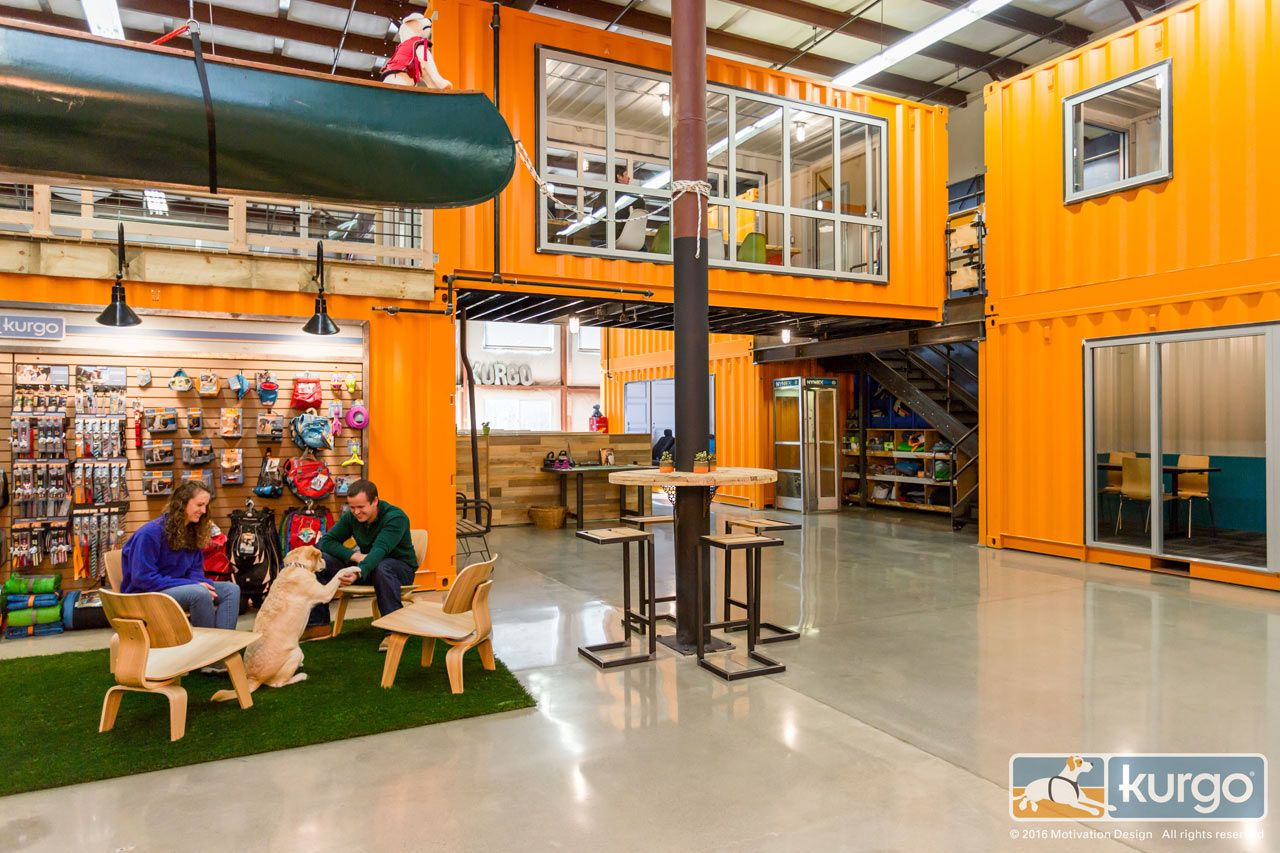 A Dog Friendly Office With Shipping Containers With Images
