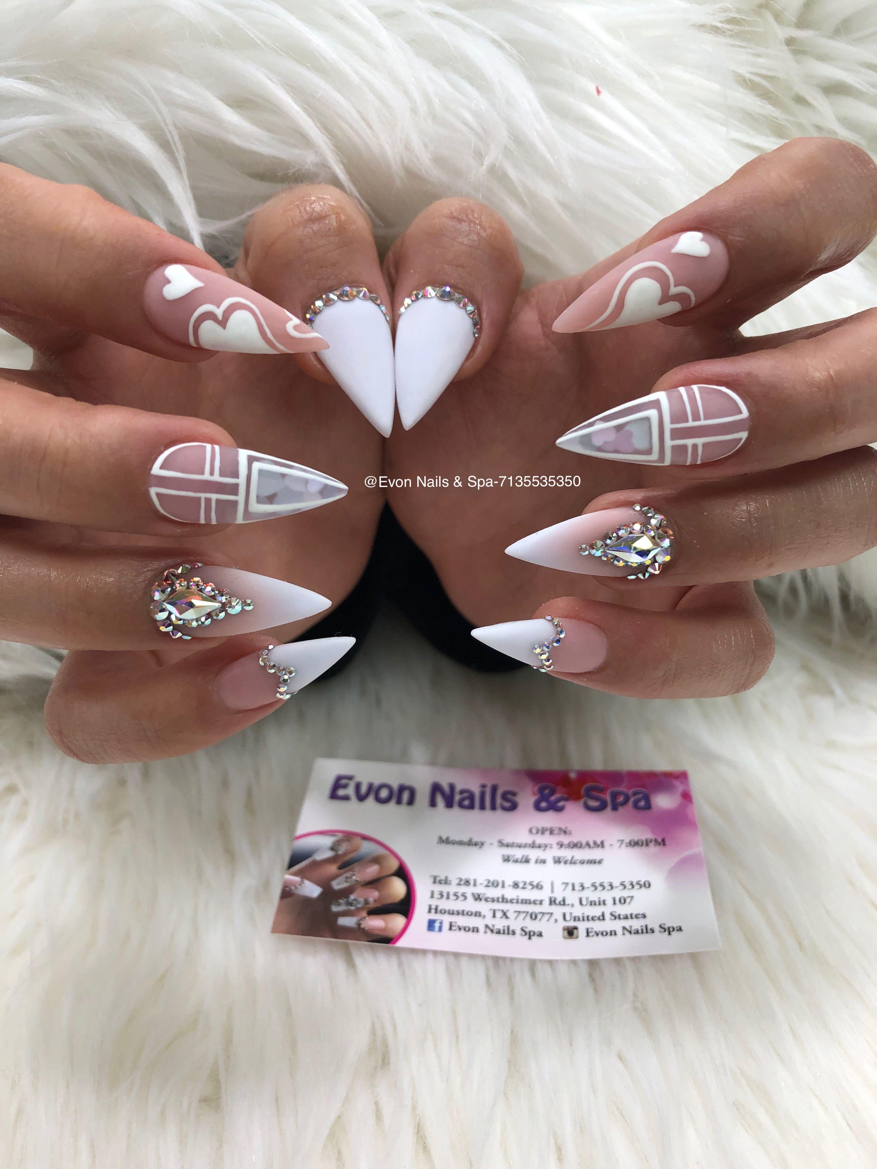 Pin By Evon Nails Spa On Evon Nails Spa Valentine Nail Art