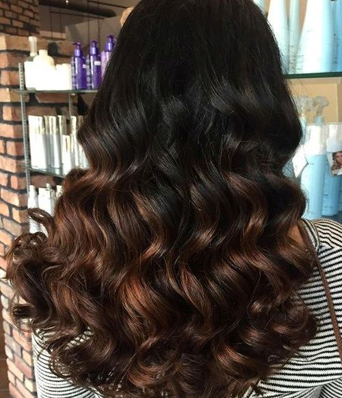 ***Black to chocolate ombre, Delicious chocolate ombre; The greatest thing  about