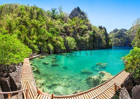 Very beautyful lake in the islands, Philippines