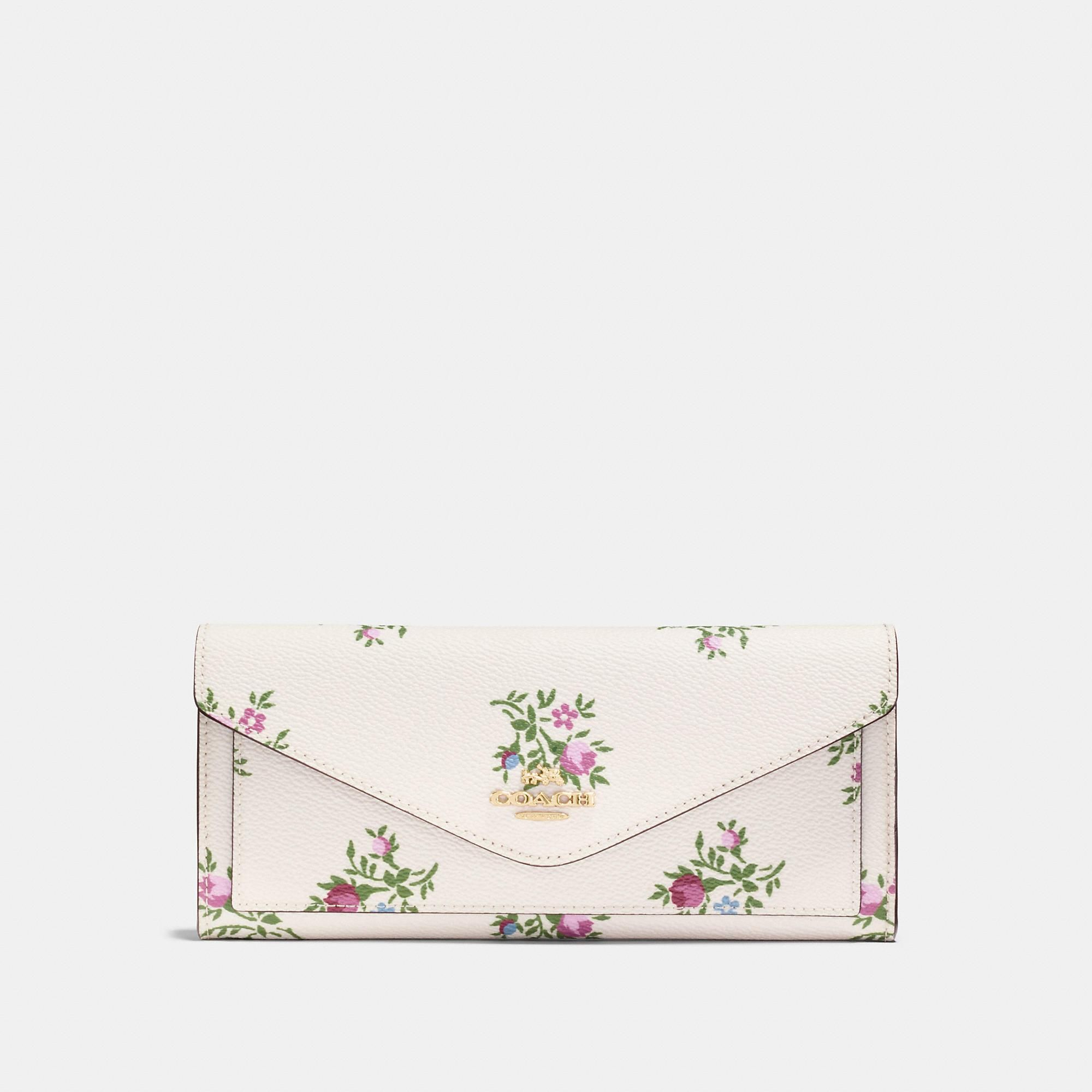 #Coach (FR) - #Coach COACH: Portefeuille souple en toile enduite motif floral en point de croix - AdoreWe.com