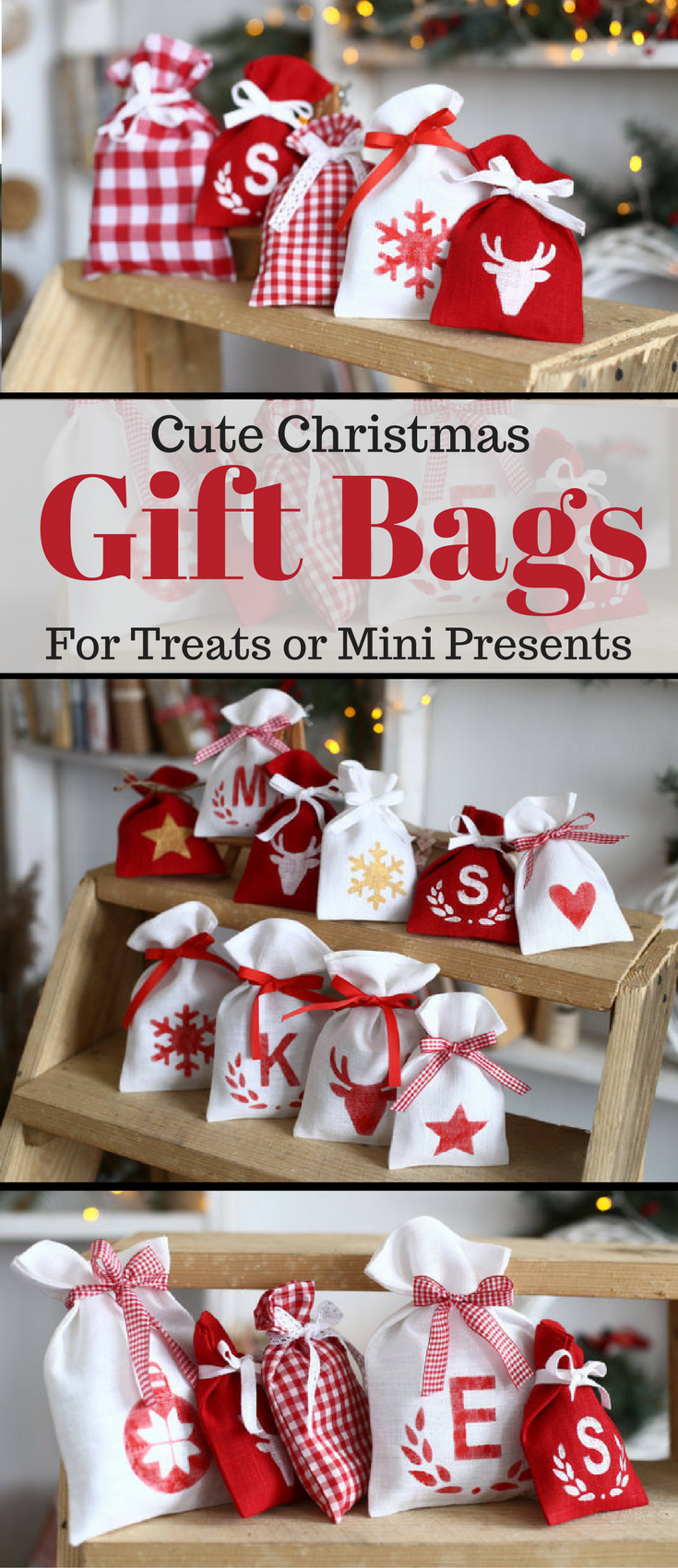 Love these cute mini christmas gift or treat bags. Perfect for small ...