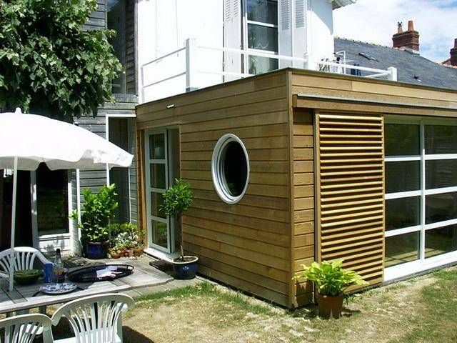 Extension en bois prix extension pinterest jardins for Annexe maison prix