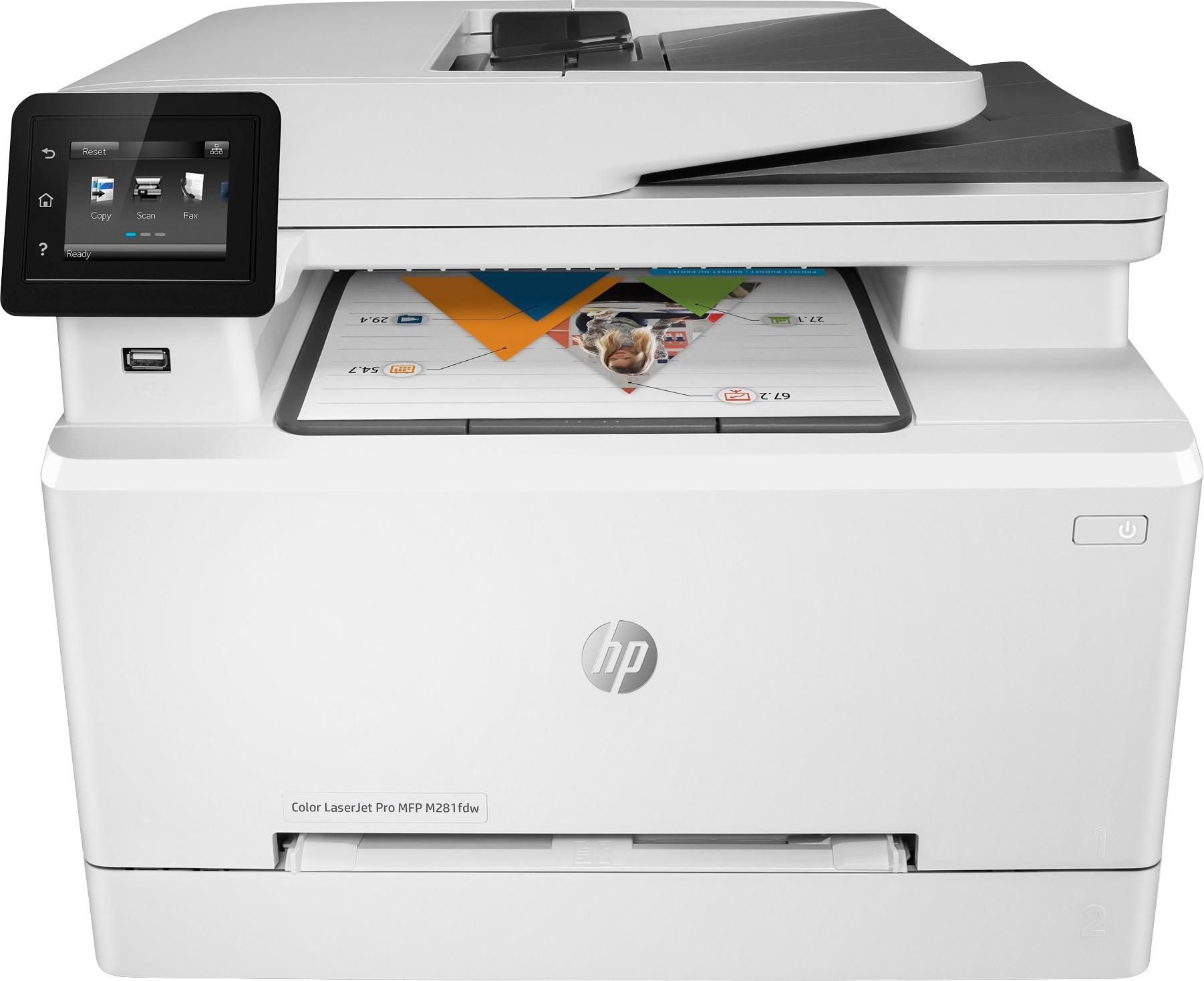 Best Buy Hp Laserjet Pro Mfp M281fdw Color Wireless All In One Laser Printer White M281fdw Multifunction Printer Laser Printer Printer Scanner