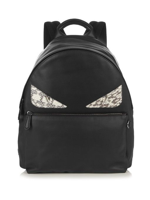 4ba7e286598b FENDI Bag Bugs Leather And Snakeskin Backpack.  fendi  bags  leather   lining  canvas  nylon  backpacks