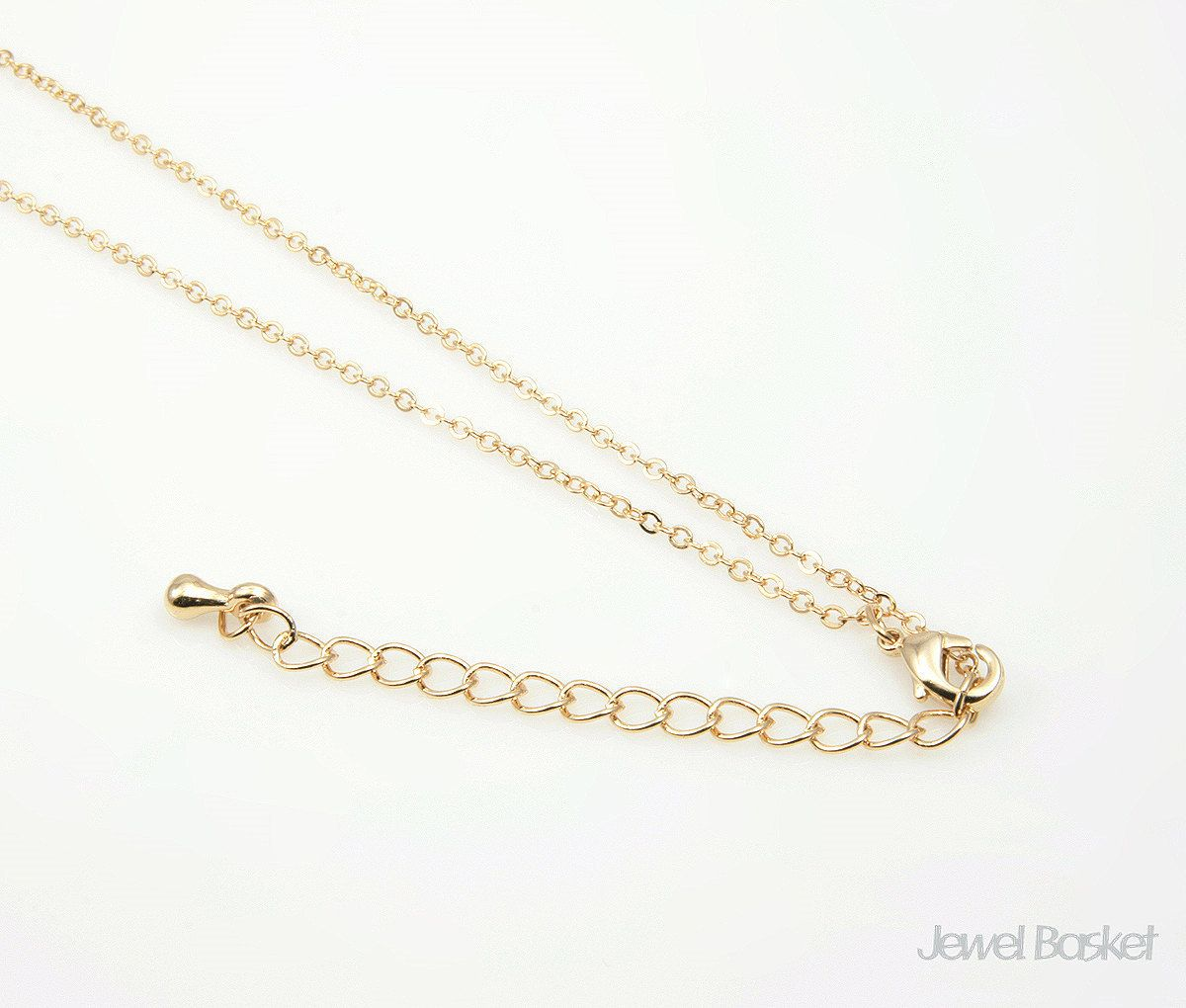 """28"""" Gold Plated Chain with Extension 235SF (1.6mm x 2mm"""