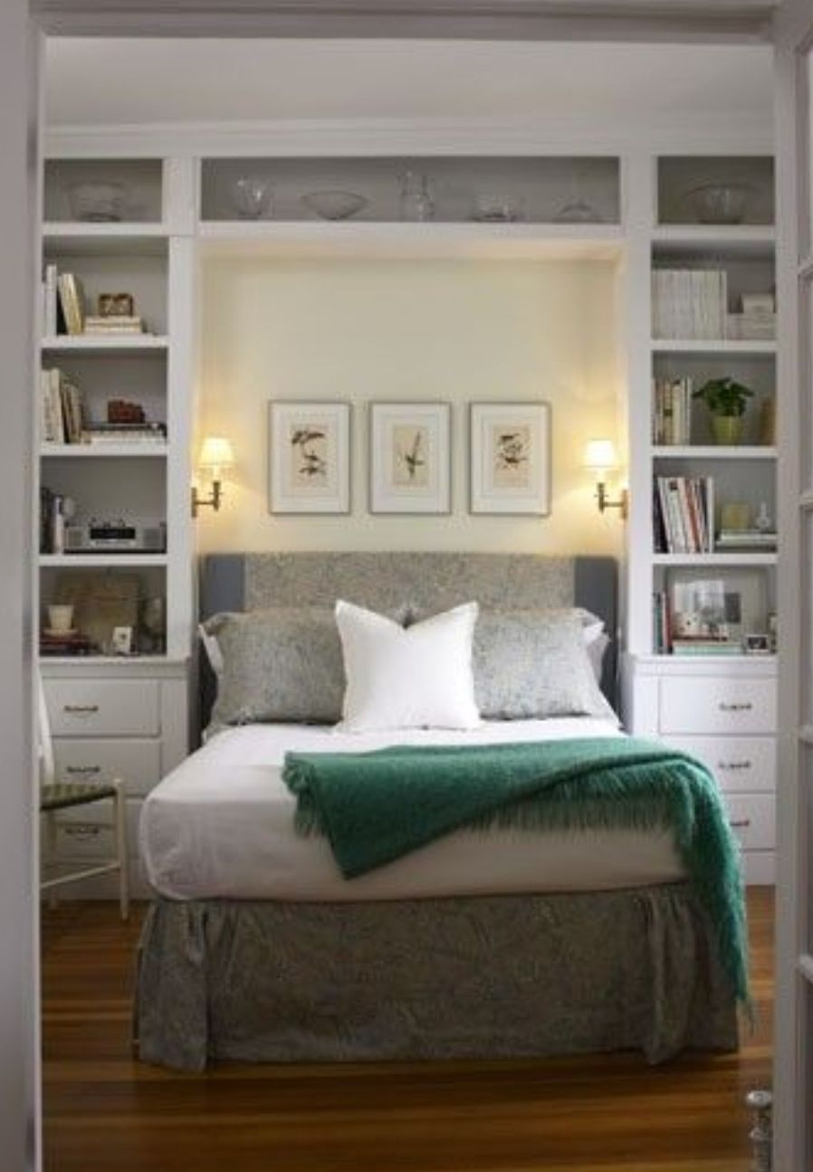 Great idea for our small bedroom space