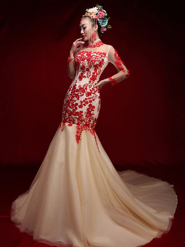 Image result for chinese wedding dress | wedding dresses | Pinterest ...