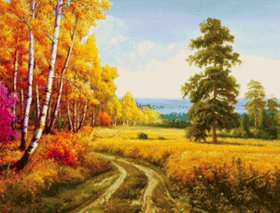 Схема вышивки «Золотая осень.» - Вышивка крестом (с ...