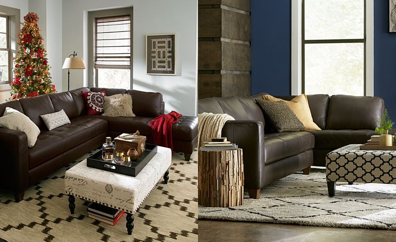 1999 milano leather 2 piece chaise sectional sofa living room rh pinterest com