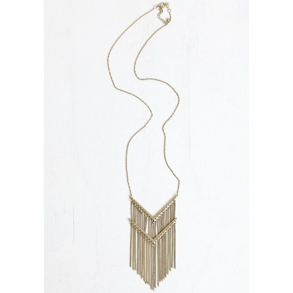 Drift Away Fringe Necklace (21,755 KRW) ❤ liked on Polyvore featuring jewelry, necklaces, fringe necklace, yellow gold necklace, gold pendant, gold chain pendant and gold necklace
