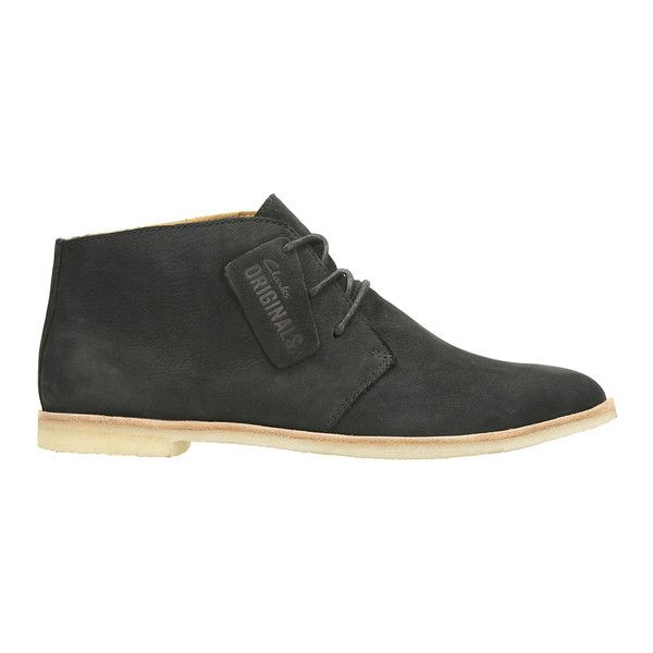 Clarks Originals Women's Phenia Desert Boots - Black ($110) ❤ liked on  Polyvore featuring · Lace Up ShoesBlack ...