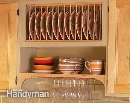Cabinet Facelift | Plate racks, Salad plates and Shelves