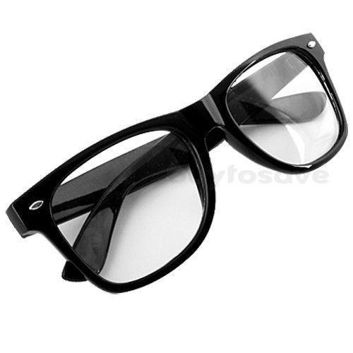 0afcb7f4a16 New Clear Lens Black Frame Men Women Eyeglasses Emo Goth Nerd Glasses  other