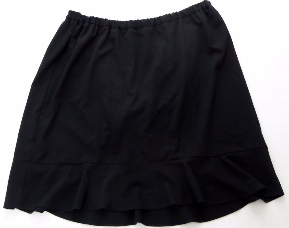 ac77d8a3f6b Catherines 5X Skirt Black Career Ruffle High Low Flounce Hemline   Catherines  ALine  Career