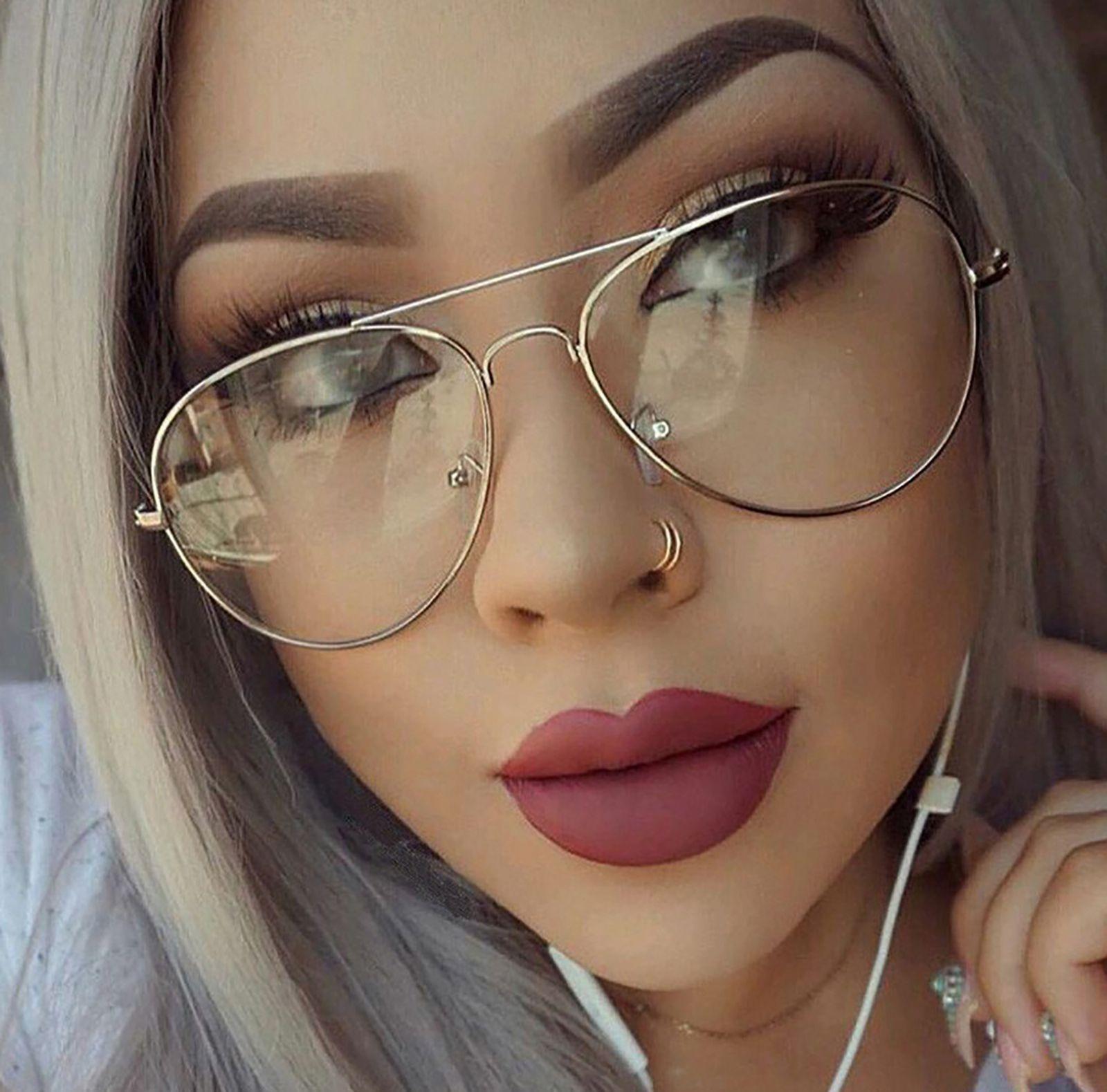 Pilot Clear Lenses Fashion Accessory Glasses Mens Women\'s ...