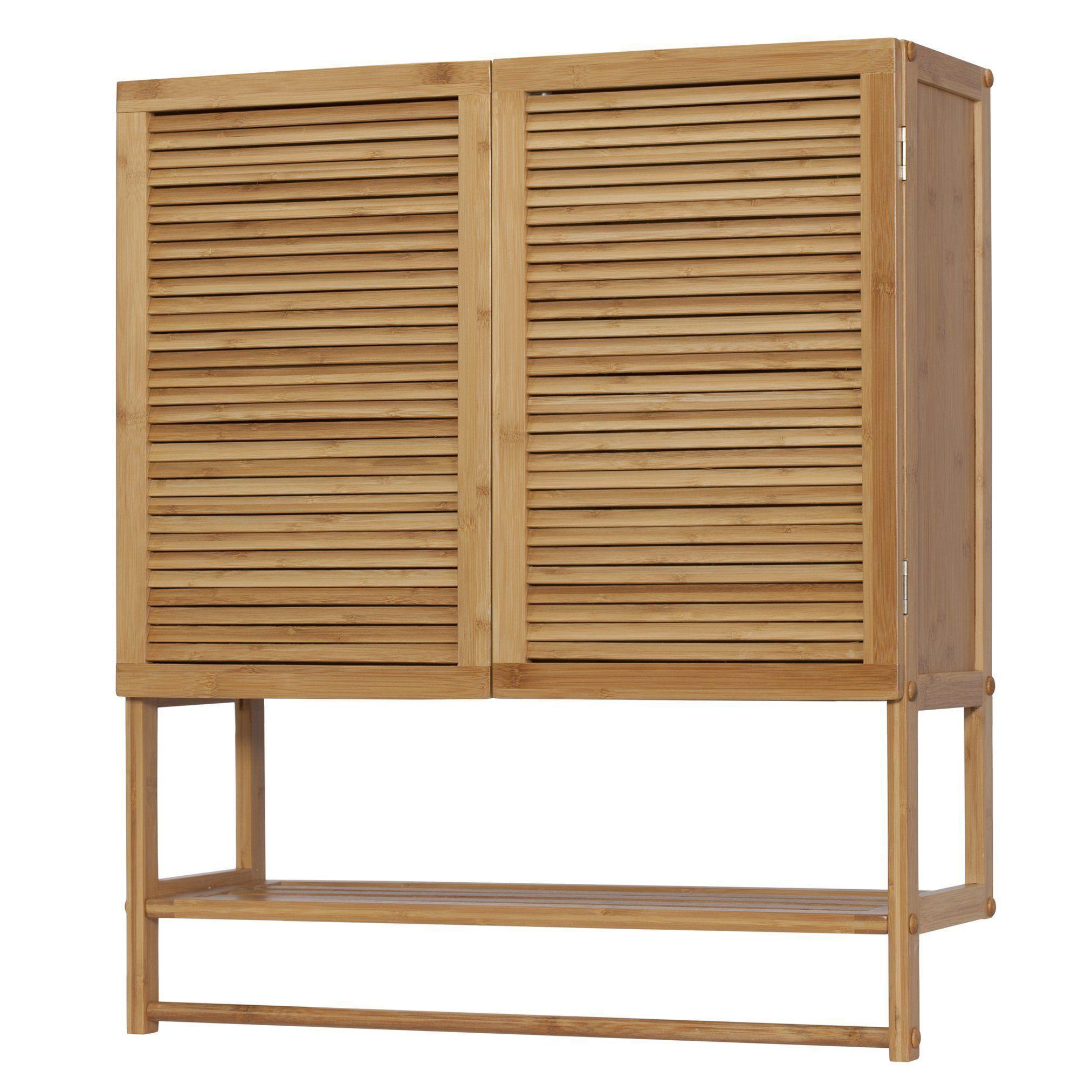 Bamboo Bathroom Wall Cabinet