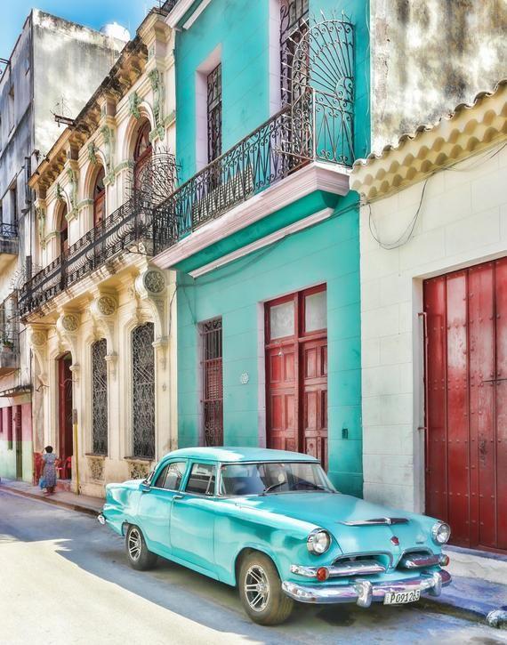 Havana Style, Classic Car Photo, Cuba Art Print, Canvas, Cuban Decor, Large Wall Art, Travel Photo, Travel Photography, Cuba photography,