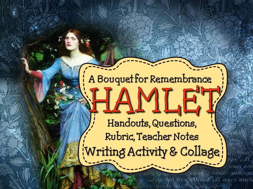 hamlet act 4 writing assignment Start studying hamlet, part 3: figurative language and allusions assignment learn to the story of pyrrhus and priam throughout act ii, scene ii of hamlet.