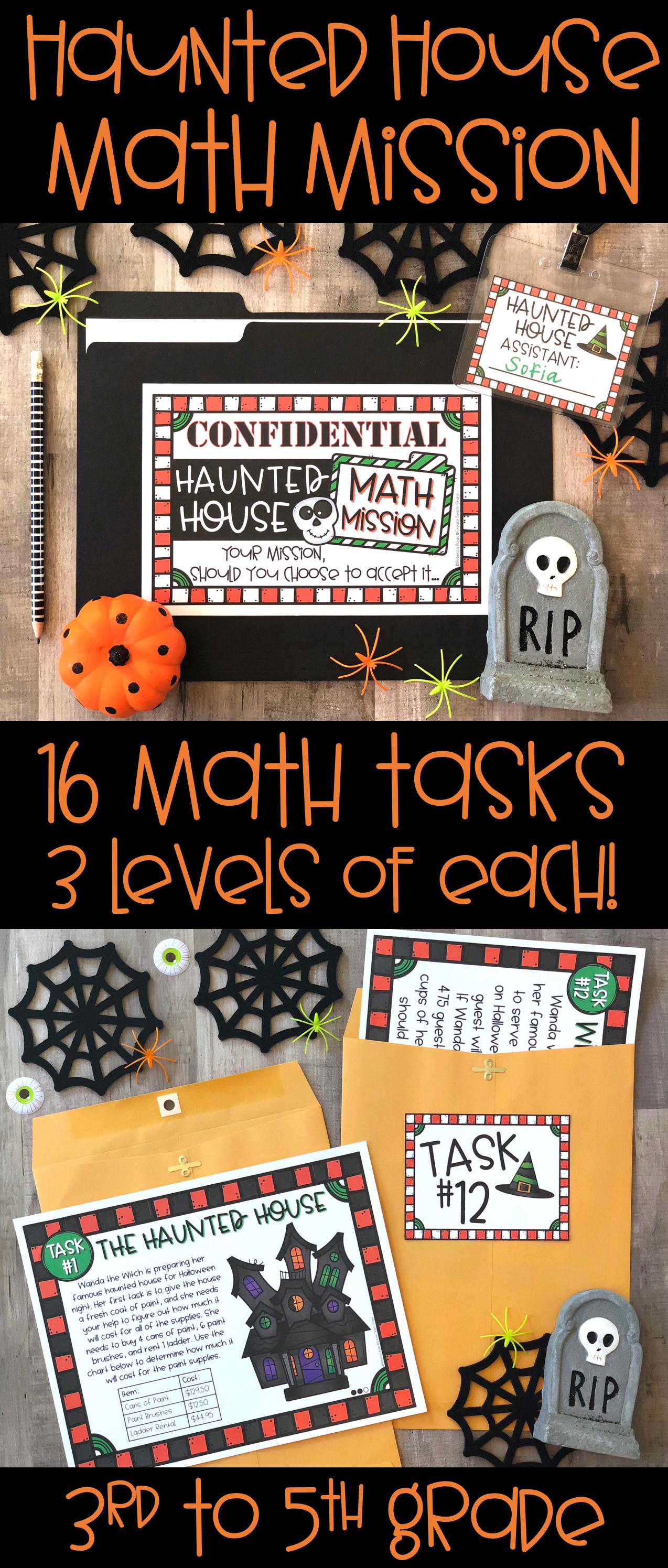 Halloween Math Mission Haunted House