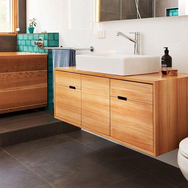 Bathroom vanity in Japanese Elm by Jack @aulddesign (Geelong)  handkrafted.com/aulddesign  #bathroom #vanity #japaneseelm #aulddesign #handkrafted #handmade #bespoke #craftsmanship #australianmade