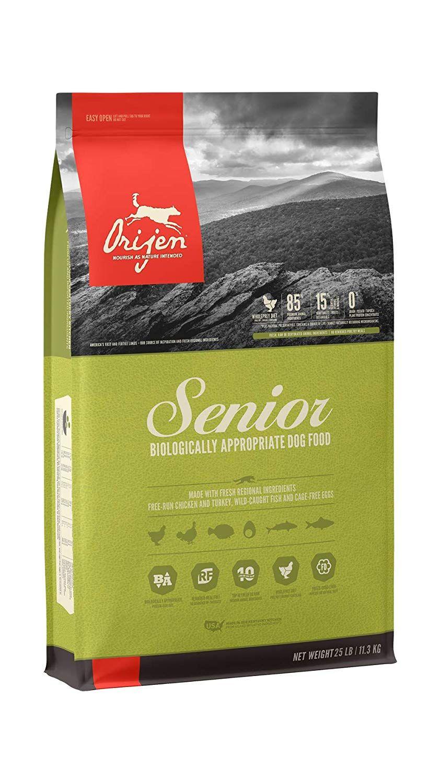 Size 25 Lb Orijen S Biologically Appropriate Senior Dog Food