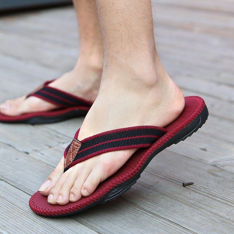 US $14.04 |FZNYL 2020 Classical Fashion Men Flip Flops Slippers Quality Rubber Outsole Beach Flipflops Non slip Outdoor Sandals Male Shoes|Flip Flops|   – AliExpress