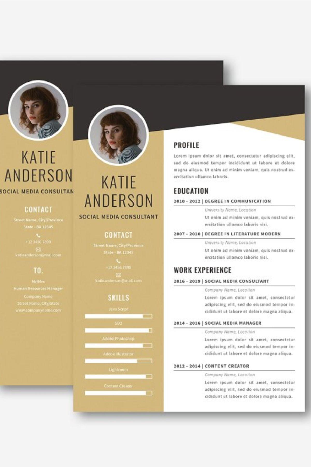 Midaz Creative CV Resume Set Creative cv, Creative