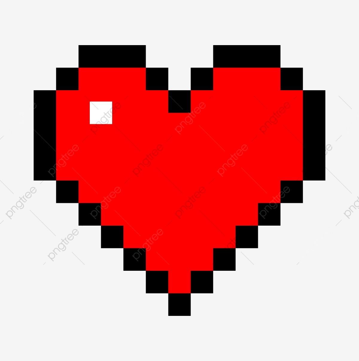 Pixel Cœur Rouge Coeur Pixel Dessin Petit Carreau Coeurs Rouges