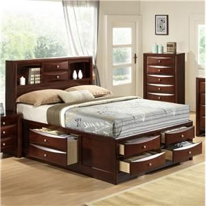Emily King Captain S Bed With Bookcase Headboard By Crown Mark At Fashion Furniture