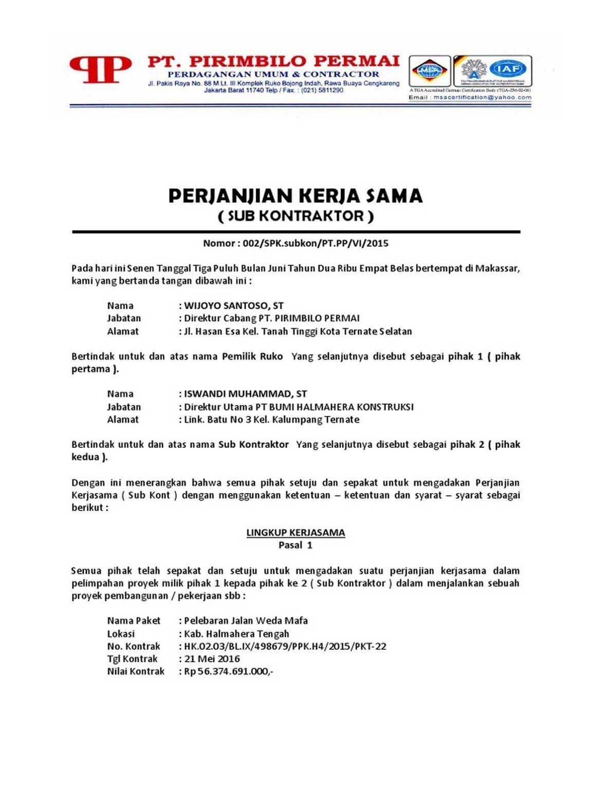 Contoh Surat Pernyataan Sepakat Cerai Download Kumpulan Gambar