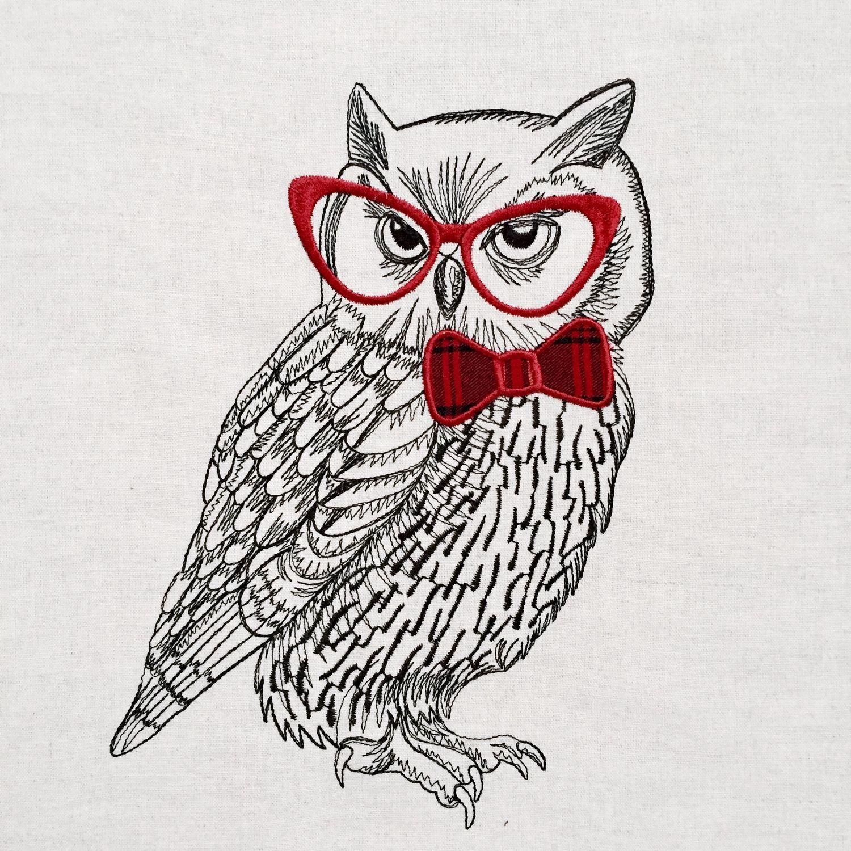 """Подушка с вышивкой """"Мудрая сова"""" – заказать на Ярмарке ..."""