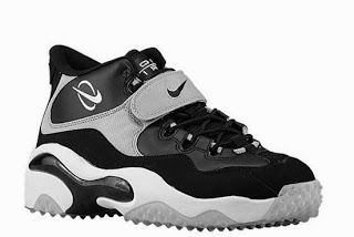 6cca12f369 Nike Air Zoom Turf Black Metallic Silver Barry Sanders Sneaker Available.