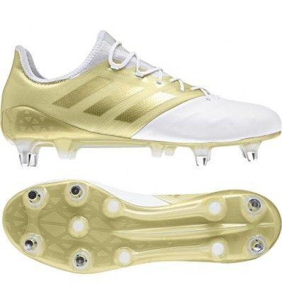 the best attitude c99a5 4ddce Adidas Kakari Light SG Rugby Boot White   Gold