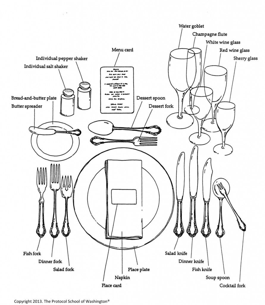 hight resolution of  the protocol school of washington table setting etiquette dinning etiquette formal dining