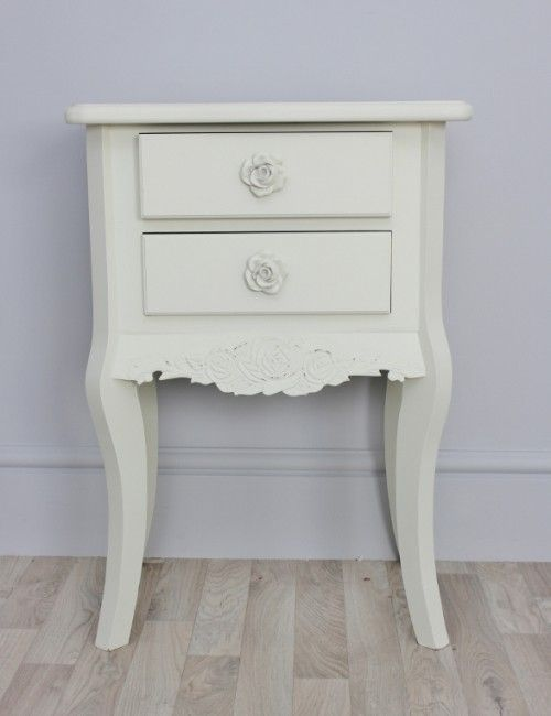 Cream Bedside Tables: Small Vintage Bedside Table Can Bring Back The History