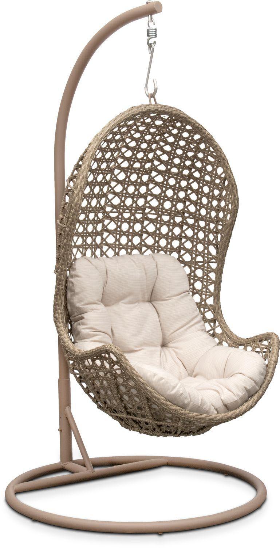 outdoor furniture kona outdoor egg chair cream spring patio rh pinterest com