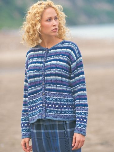 Fair Isle Plaid Cardigan | Yarn | Free Knitting Patterns | Crochet Patterns | Yarnspirations