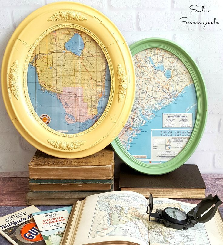 Pair antique oval picture frames from the
