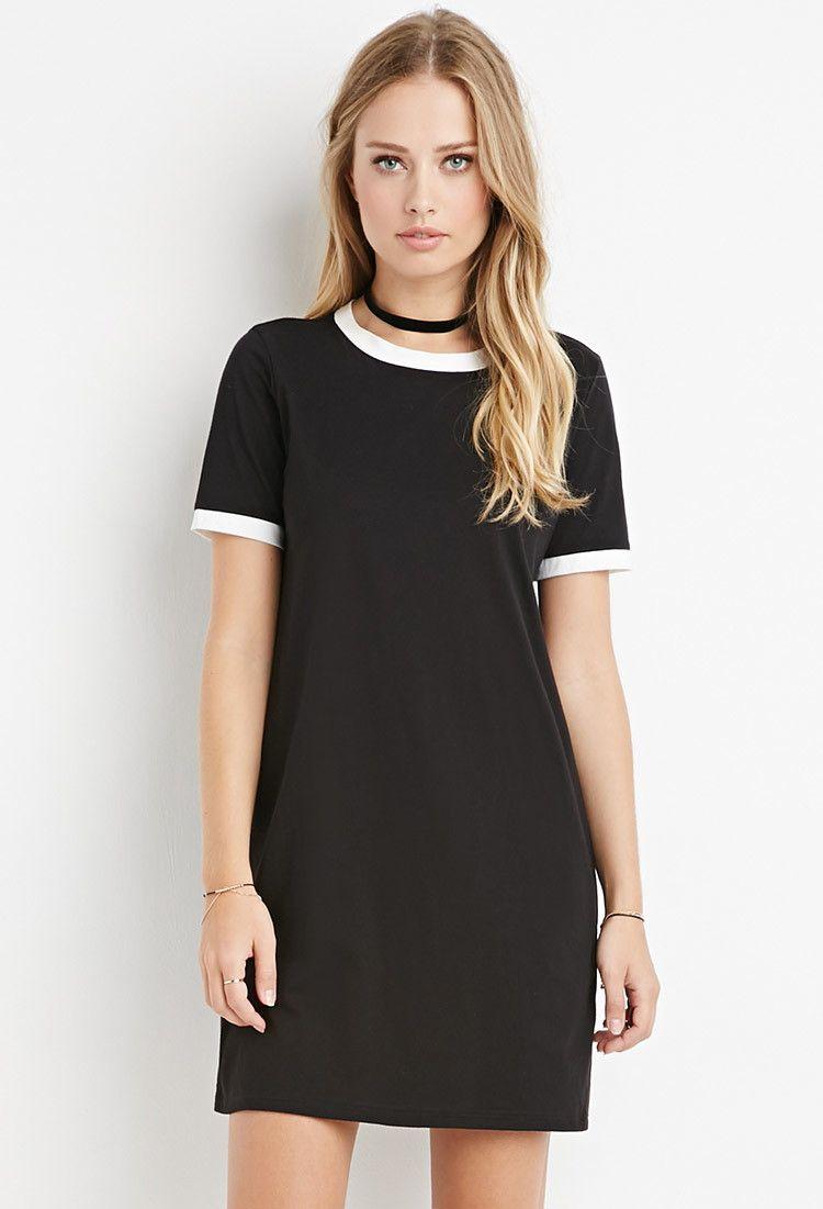 Ringer TShirt Dress Forever 21 2000158245
