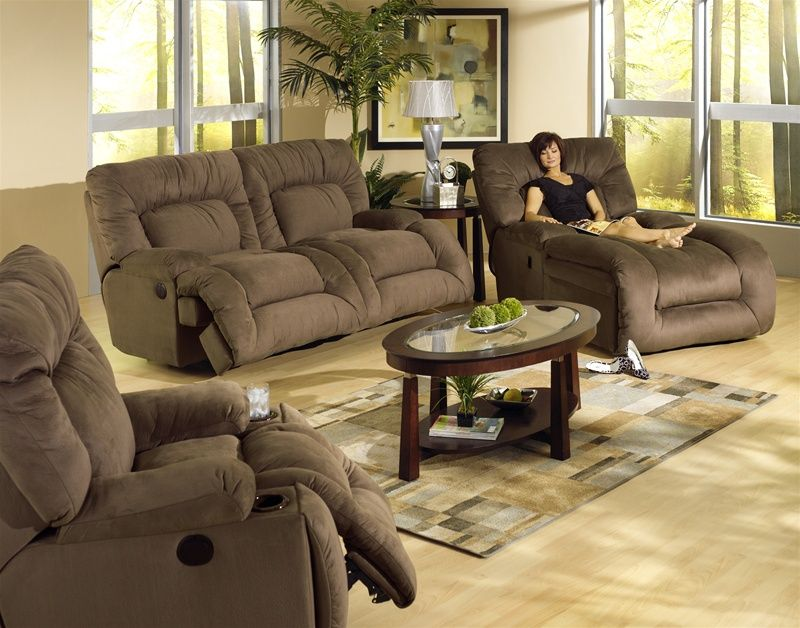 Jackpot 2 Piece Power Reclining Sofa Set In Coffee Microfiber Fabric By Catnapper 6981 C S Living Room Sets Furniture Reclining Sofa Sofa Bed Design