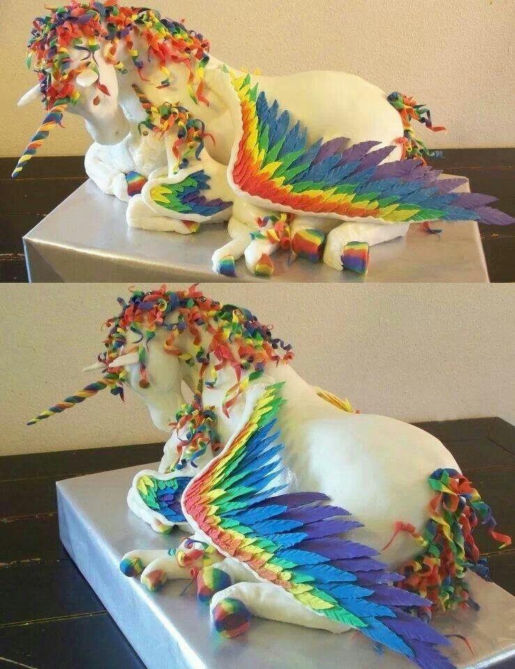 Rainbow alicorn cake rainbow unicorn cake unicorn