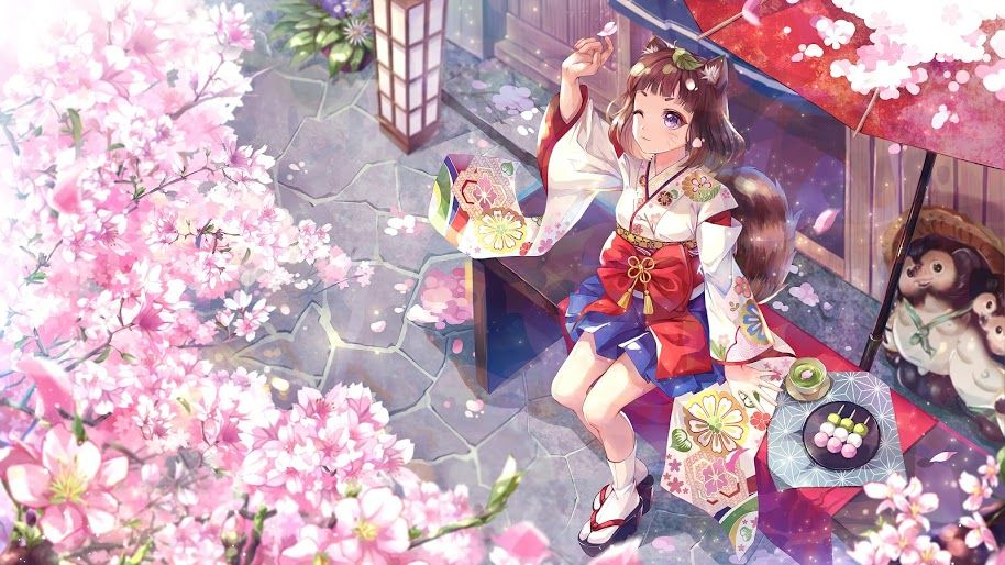 Pin On Hd Anime Wallpaper Coolest red cherry blossom wallpaper