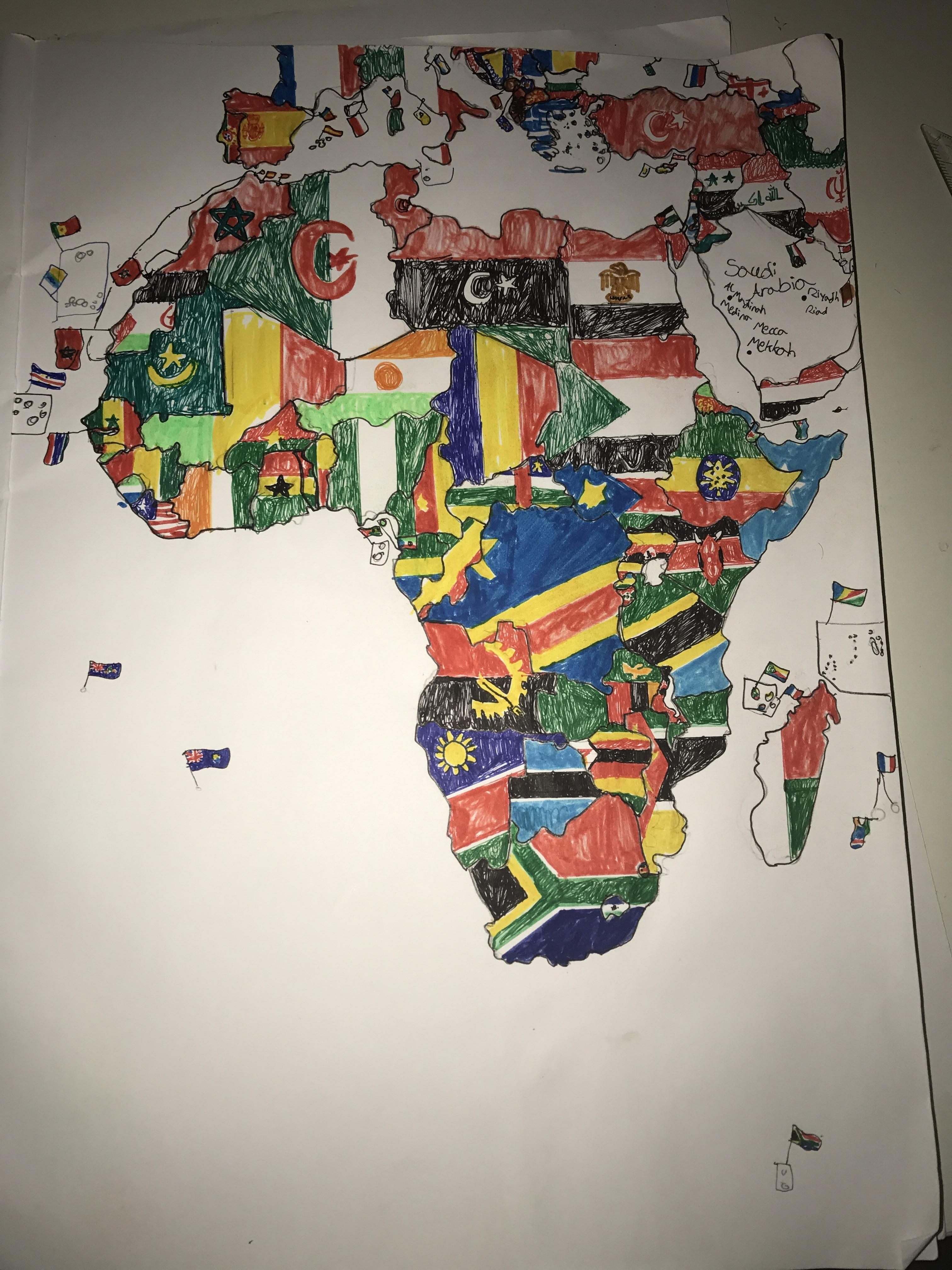 Royalty Free Map%0A Handdrawn map of Africa