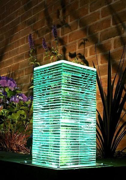 borne extérieure en bois led grande   luminaires   Éclairage