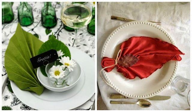 Como doblar servilletas de papel de una forma original - Preparar mesa navidad ...