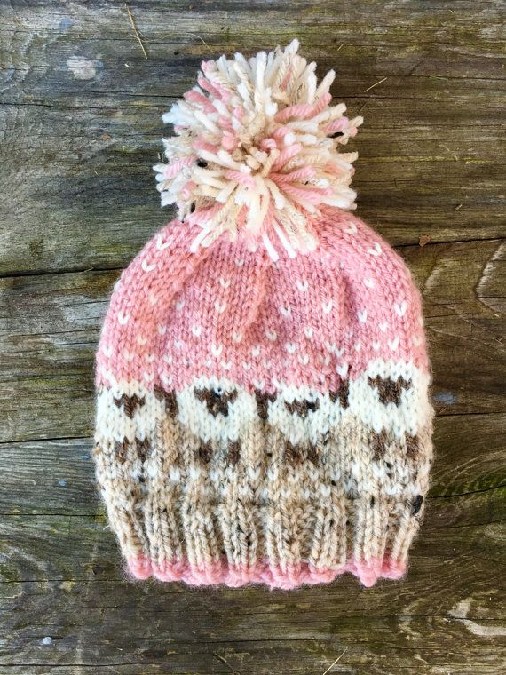 Toddler girl Baa-ble hat pink baby fair by LoopsnswoopsByCheryl ...