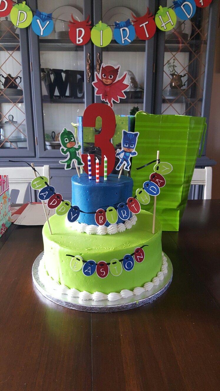 pj masks birthday cake pj masks birthday pinterest geburtstag geburtstagsfeier und. Black Bedroom Furniture Sets. Home Design Ideas
