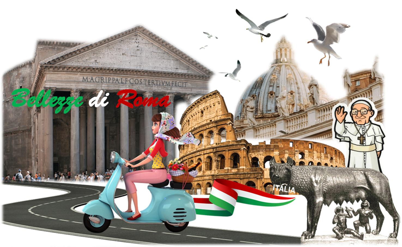 """Cartolina – Bellezze di Roma"""