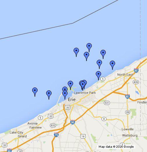 Fifteen notable Lake Erie shipwrecks near Erie County, Pa ... on